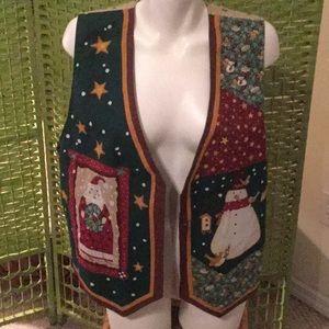 🎄NWT Amazing Holiday Vest Reversable Sz 2XLarge🎄